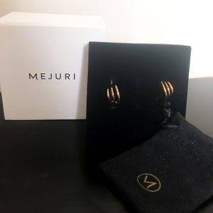 Mejuri triple hoop earrings